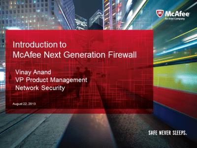 """Hội thảo chuyên đề """"McAfee Next Generation Firewall"""""""
